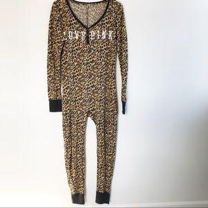 Victoria's Secret Leopard One Piece Pajamas